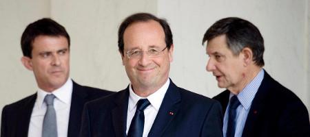 Image Valls, Hollande, Jouyet