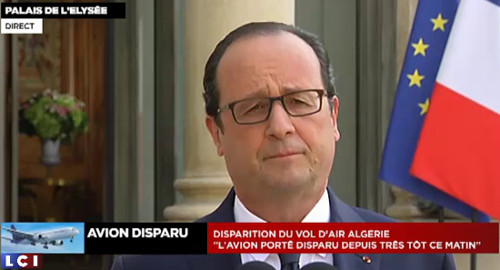 Image Hollande TV crash Air Algérie juillet 2014