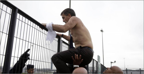 Image Xavier Broseta, DRH d'Air France, sans chemise
