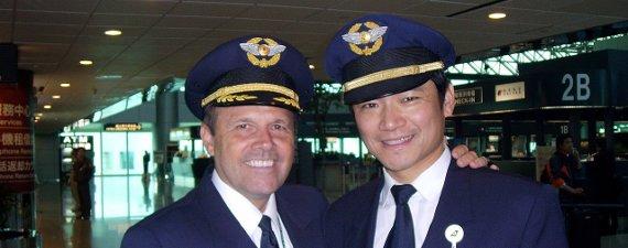 Craig Shaver chef pilote A330 Eva Air et un pilote