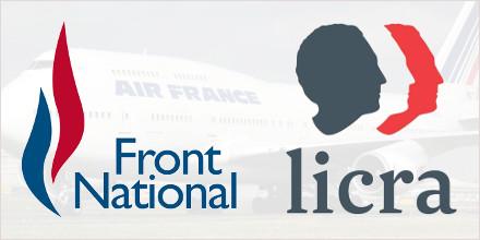 Image : Logos FN et LICRA