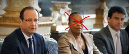 Image Hollande, Valls, Taubira
