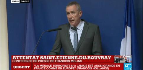 Image procureur Molins, 26 juillet 2016, 21 heures 20 (Paris)