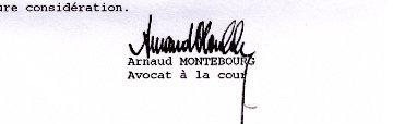 Image signature d'une lettre qu'Arnaud Montebourg m'a envoyée