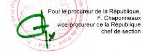 Signature de Françoise Chaponneaux