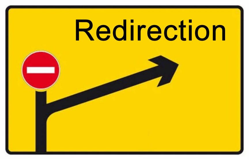 Image : redirection