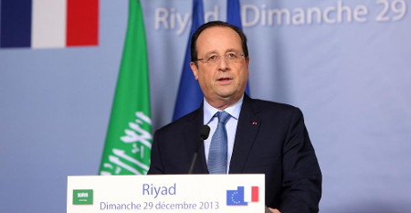 Image conférence de presse Hollande à Riyad, 29 décembre 2013